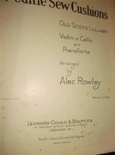 VINTAGE SHEET MUSIC 1928 CAN YE SEW CUSHIONS PIANO VIOLIN & CELLO ALEC ROWLEY